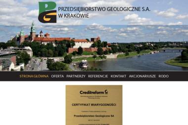 Przedsiębiorstwo Geologiczne S.A. w Krakowie - Geologia Kraków