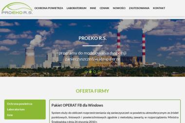 Proeko. Ryszard Samoć. Programy komputerowe, opracowania dla ochrony środowiska - Ochrona środowiska Kalisz