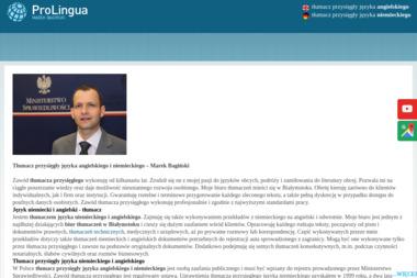 Marek Bagiński - tłumacz przysięgły - Tłumacz Języka Angielskiego Białystok