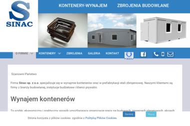 Sinac Sp. z o.o. Wynajem kontenerów biurowych, sanitarnych - Zaplecze budowlane Szczecin
