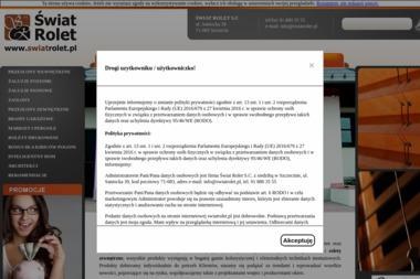 Świat Rolet. Bramy garażowe, rolety, żaluzje - Rolety zewnętrzne Szczecin