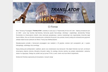 Biuro Tłumaczy Przysięgłych TRANSLATOR - Tłumacze Łódź