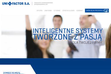 Unifactor SA. Oprogramowanie wspomagające zarządzanie firm - Oprogramowanie Łomża