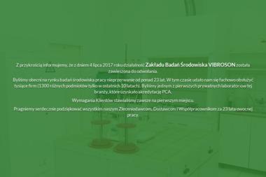 Vibroson SC. Zakład badań środowiska - Ochrona środowiska Będzin