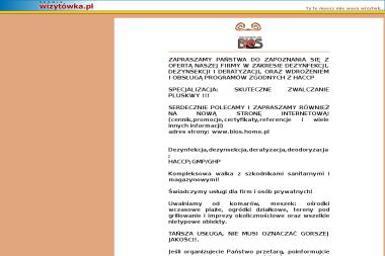 Bios. Usługi DDD, czyszczenie dywanów, system HACCP - Dezynsekcja i deratyzacja Gdańsk