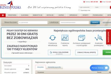 Grupa Biznes Polska. Bazy danych, przetargi, inwestycje - Opieka Informatyczna Wysokie Mazowieckie