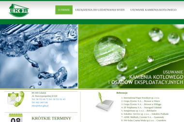 Ekor. Sp. z o.o. Chemiczne usuwanie kamienia kotłowego - Oczyszczanie ścieków, uzdatnianie wody Gdańsk