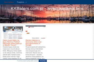 KK Balers International. Sp. z o.o. Prasy i belownice do odpadów - Usługi komunalne Gdańsk