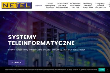 Netel. Centrale telefoniczne, telewizja przemysłowa, światłowody - Systemy i usługi Szczecin