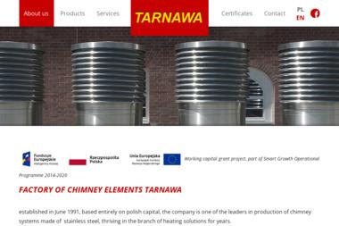 Tarnawa. Sp.j. Systemy kominowe. Wyposażenie gastronomii, kominki - Urządzenia, materiały instalacyjne Tarnów