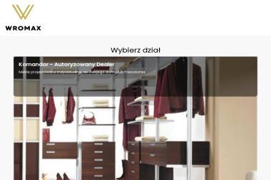 Wromax - Autoryzowany dealer Firmy komandor - Szafy na wymiar Warszawa