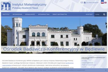 Pałac Będlewo. Ośrodek konferencyjny. Instytutu Matematycznego PAN - Agencje Eventowe Będlewo