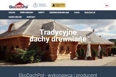 EkoDachPol - Dachy z Wióra Osikowego Gonty Drewniane - Domy szkieletowe Puńsk