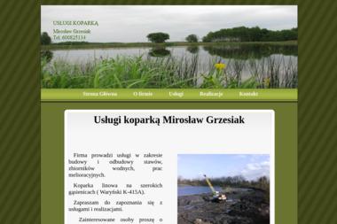 Usługi koparką Mirosław Grzesiak - Roboty ziemne Busko-Zdrój