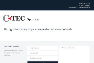 CTEC sp z o.o - Montaż płyt warstwowych Wrocław
