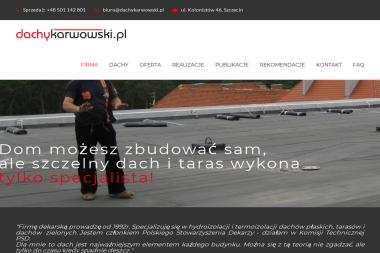 Zakład Dekarski Jacek Karwowski - Montaż Pokrycia Dachowego Szczecin