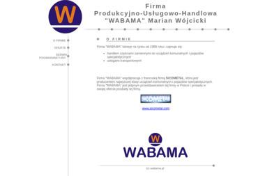 """Firma Produkcyjno-Usługowo-Handlowa """"WABAMA"""" Marian Wójcicki - Maszyny i urządzenia różne Wschowa"""