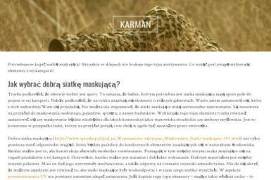 "P.P.U.H. ""KARMAN"" - Producent Ubrań Roboczych Elbląg"