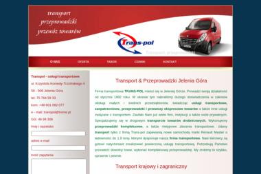 Transpol - usługi transportowe - Przeprowadzki międzynarodowe Jelenia Góra
