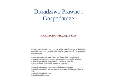 ARS LACHOWICZ SP Z O.O. - Adwokat Prawa Karnego Marki