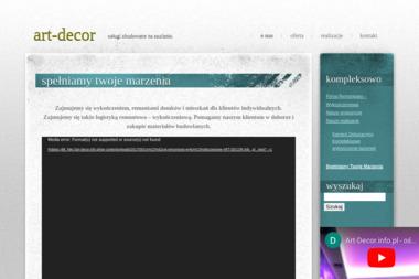 Firma Remontowo-Wykończeniowa ART-DECOR - Pozycjonowanie stron Toruń