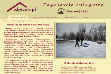 Alpicon - Usuwanie Śniegu z Dachu Sobótka