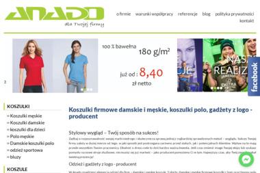 ANADO produkcja i dystrybucja odzieży reklamowej . - Hurtownia Używanej Odzieży Kraków