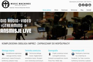 Music Machines - nagłośnienie oświetlenie organizacja imprez - Zespół muzyczny Warszawa