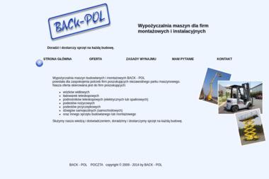 BACK-POL - Maszyny budowlane Wieluń