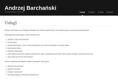 Kancelaria Radcy Prawnego Andrzej Barchański - Radca prawny Warszawa