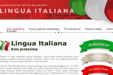 LINGUA ITALIANA Język włoski - Tłumacz Języka Angielskiego Gorlice