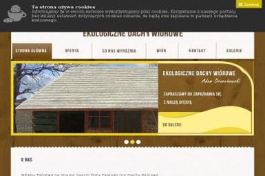 Ekologiczne dachy wiórowe - Brukowanie Krasnopol