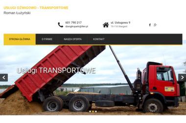 Usługi Dźwigowo-Transportowe Roman Łużyński - Budowa dróg Stargard