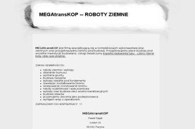 MEGAtransKOP Paweł Sajak - Firmy budowlane Pacyna
