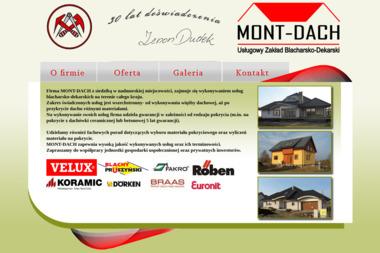 Uslugowy zakład blacharsko-dekarski >Mont-Dach< - Krycie dachów Kołobrzeg