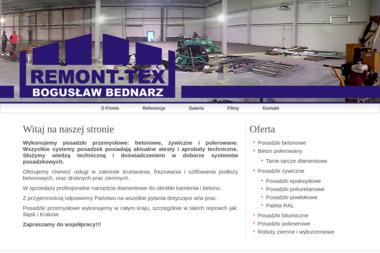 Posadzki Przemysłowe Remont-Tex Bednarz Bogusław - Hale Stalowe Bielsko-Biała