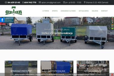 Aplan - Producent przyczep i plandek, wypożyczalnia przyczep - Wypożyczalnia samochodów Zamość