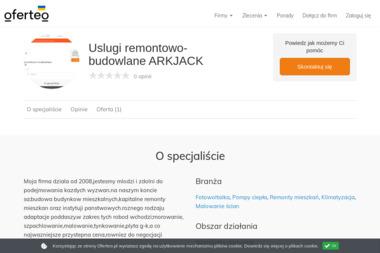 Uslugi remontowo-budowlane ARKJACK - Pompy ciepła Olsztyn