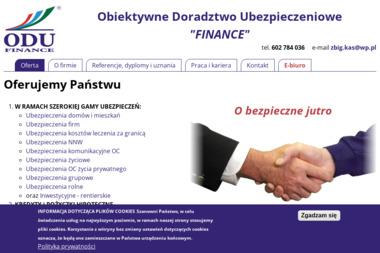 """Obiektywne Doradztwo Ubezpieczeniowe """"FINANCE"""" - Finanse Nysa"""