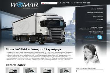 WOMAR - Transport busem Nisko