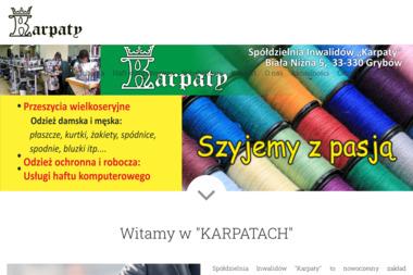 """Spółdzielnia Inwalidów """"Karpaty"""" - Hafciarnia Grybów"""