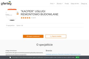 """""""KACPER"""" USŁUGI REMONTOWO BUDOWLANE - Energia Odnawialna OTWOCK"""