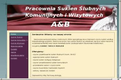 A&B Pracownia Sukien Ślubnych Komunijnych i Wizytowych - Firmy odzieżowe Reda