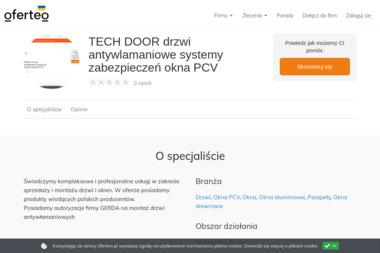 TECH DOOR drzwi antywlamaniowe systemy zabezpieczeń okna PCV - Drzwi Kraków