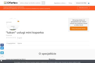 """""""lukan"""" uslugi mini koparka - Projektowanie Ogrodów Zimowych Trzemzal"""
