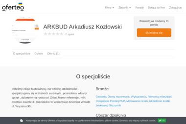 ARKBUD Arkadiusz Koz艂owski - Uk艂adanie kostki brukowej Ortel Królewski