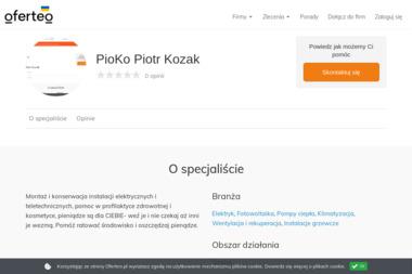 PioKo Piotr Kozak - Dostawcy i producenci 艢wi臋toch艂owice