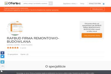 RAFBUD FIRMA REMONTOWO-BUDOWLANA - Elewacje i ocieplenia ŁAZISKA GÓRNE   , RUDA ŚLĄSKA