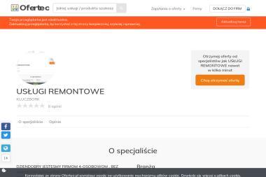 USŁUGI REMONTOWE - Instalacje KLUCZBORK