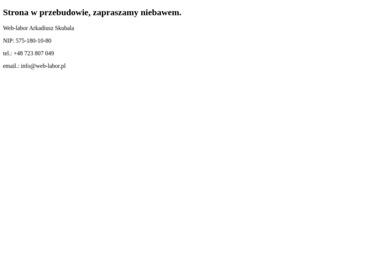 Web-labor Arkadiusz Skubala - Oprogramowanie do Sklepu Internetowego Ciasna